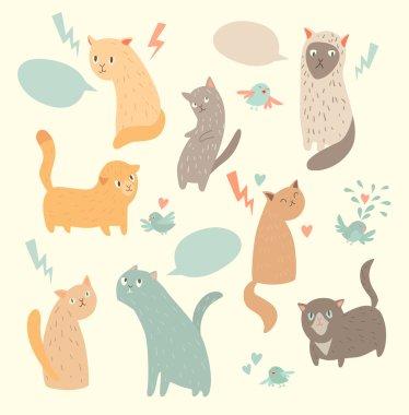 Cute cats illustrations