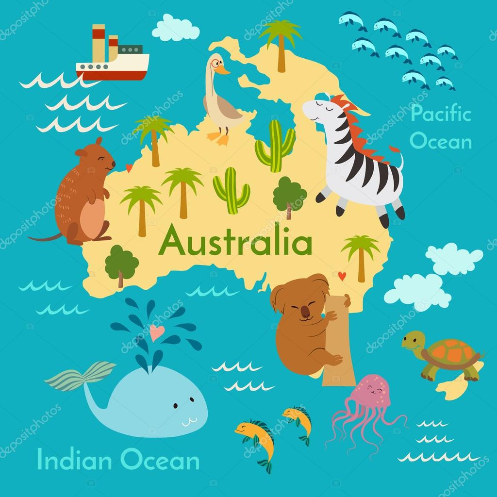 Animals world map australia archivo imgenes vectoriales animals world map australia archivo imgenes vectoriales gumiabroncs Gallery