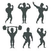 Fotografie Satz von muskulären Bodybuilder Mann