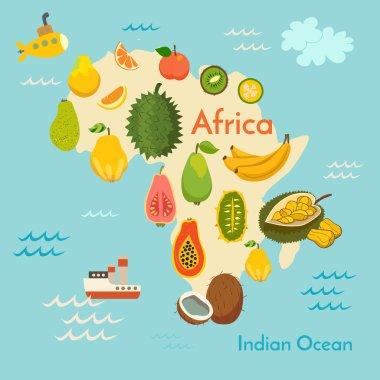 Fruit world map, Africa