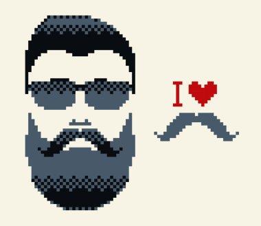 I love mustache and mustache man