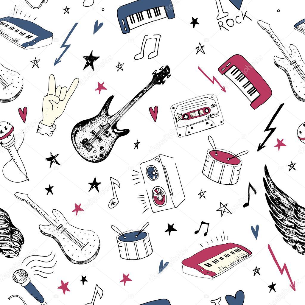 Music Symbol Clip Art Music Symbols Seamless Pattern Rock Music