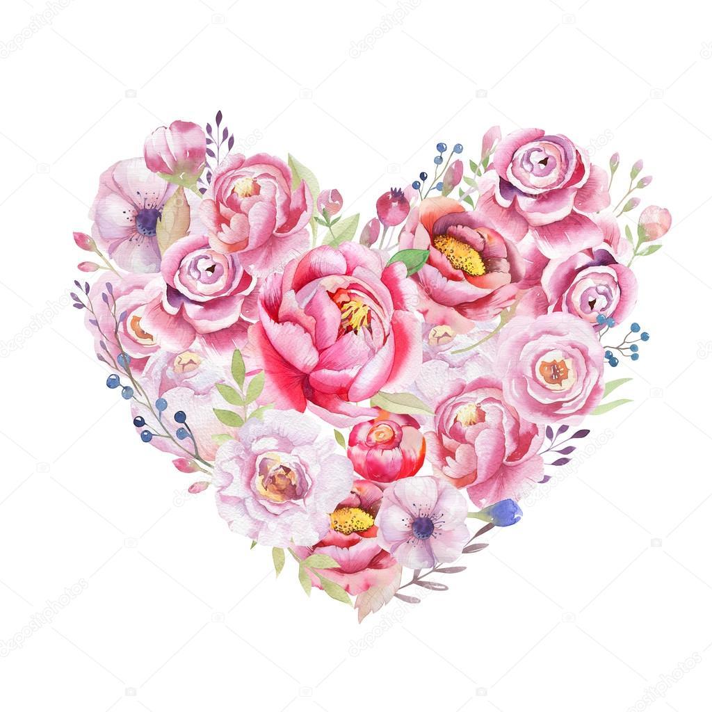 Fotos Flores En Forma De Corazón Ramo De Flores En Forma De