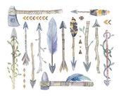 Fotografia Watercolor aztec boto arrows set