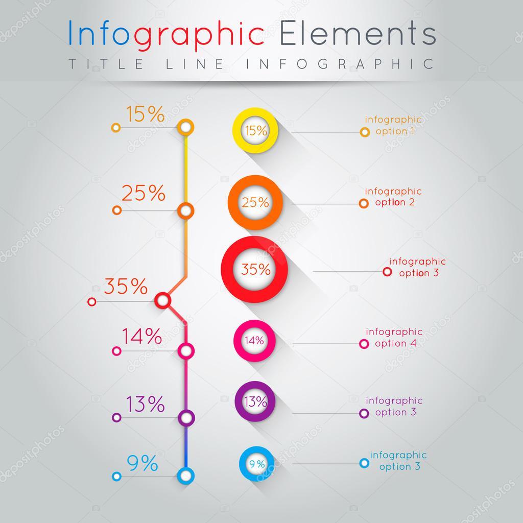 Abbildung abstrakt Business Info-Grafiken. Für Web und mobile ...