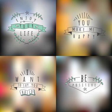 Vector set of summer  emblems