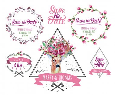 Save the date design elements