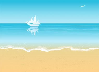 summer beach vacation concept background.