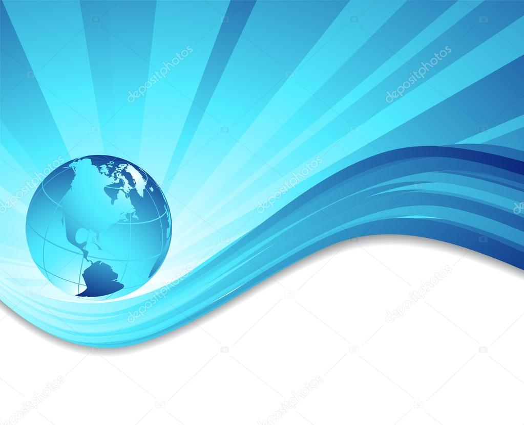 vector environmental background with globe