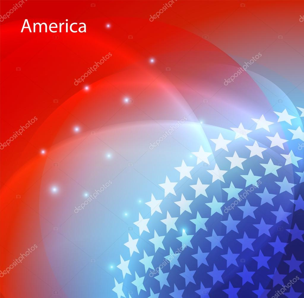 Abstract image of the USA flag