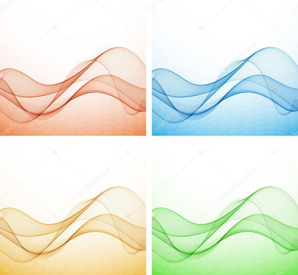 Abstract colorful background with wave, illustration