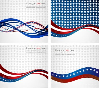 American Flag, Vector background for Independence Day and other events.
