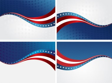 American Flag, Vector background for Independence Day and other events. Illustration stock vector