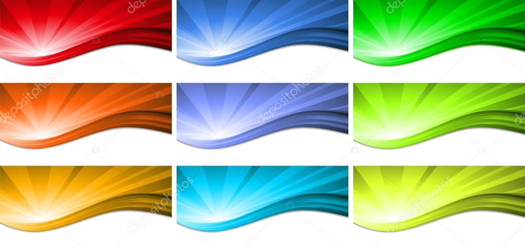 Abstract colorful wave background. Vector.