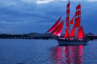 Scarlet Sails celebration in St Petersburg.