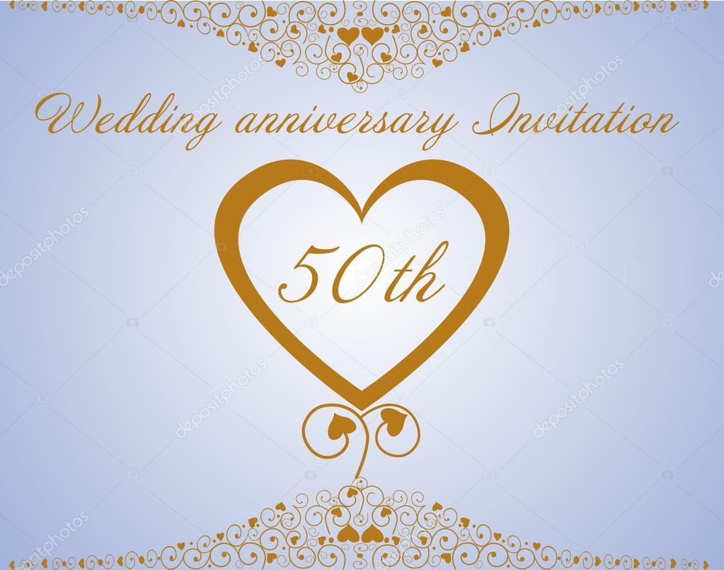 50th wedding anniversary invitation stock vector ninarubanyuk 50 years anniversary backgroundeditable vector illustration of a beautiful vector by ninarubanyuk stopboris Gallery