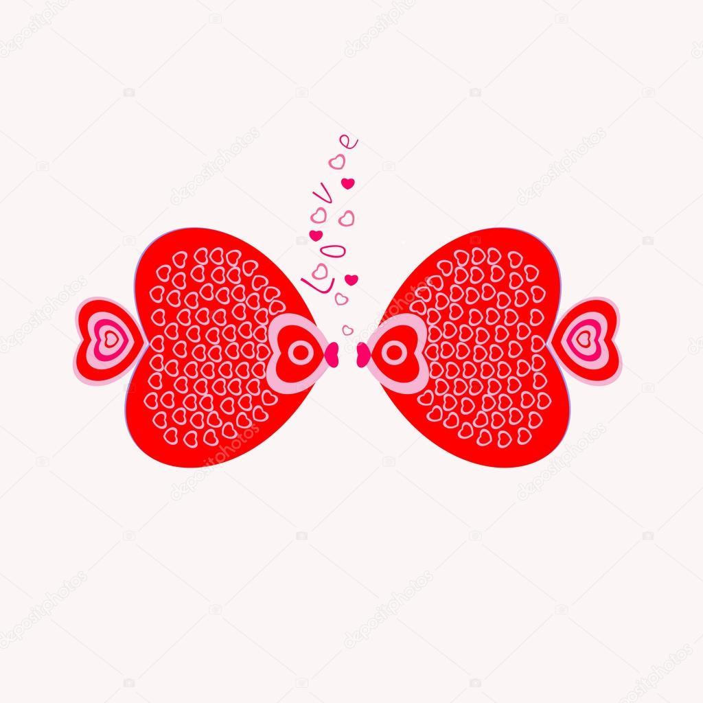 Abstrakte Herzen Zum Valentinstag Fur Verliebte Stockvektor
