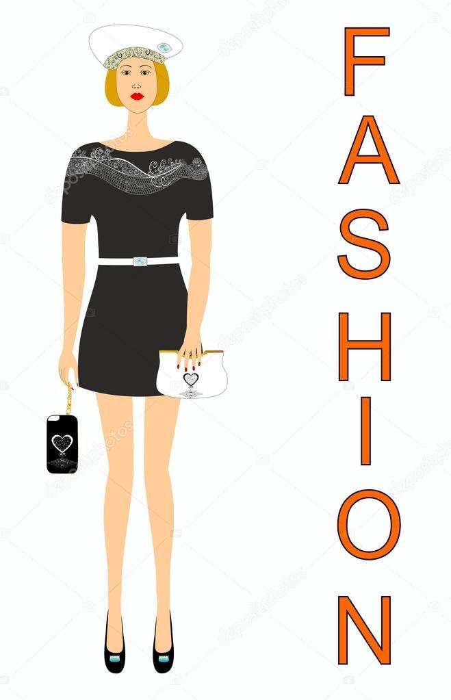 69e967c83f91 Abbigliamento alla moda e accessori per ragazze — Vettoriali Stock ...