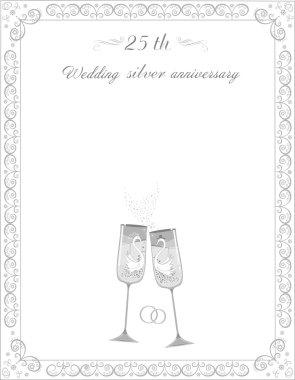 Congratulations on the 25 th anniversary silver wedding