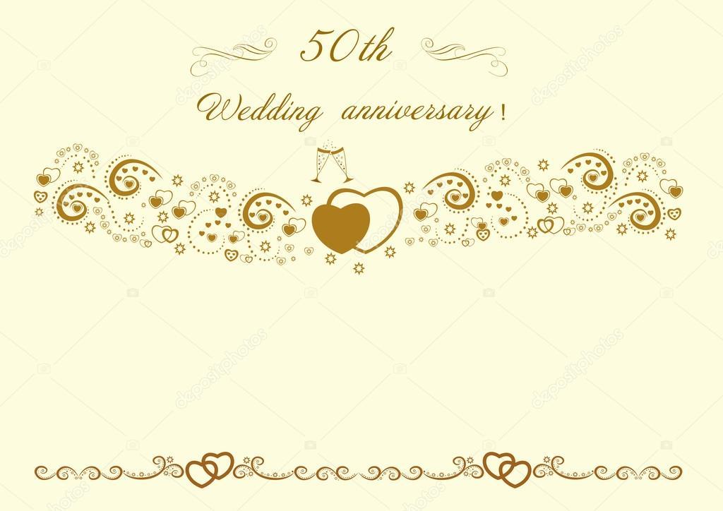 50 Anniversario Di Matrimonio Invitation Beautiful Modificabili