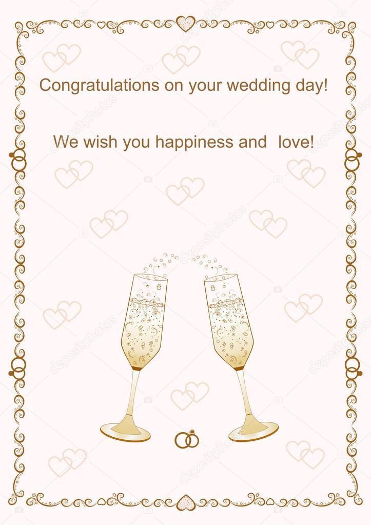 grattis på bröllopsdag Grattis på din bröllopsdag vektor illustration — Stock Vektor  grattis på bröllopsdag