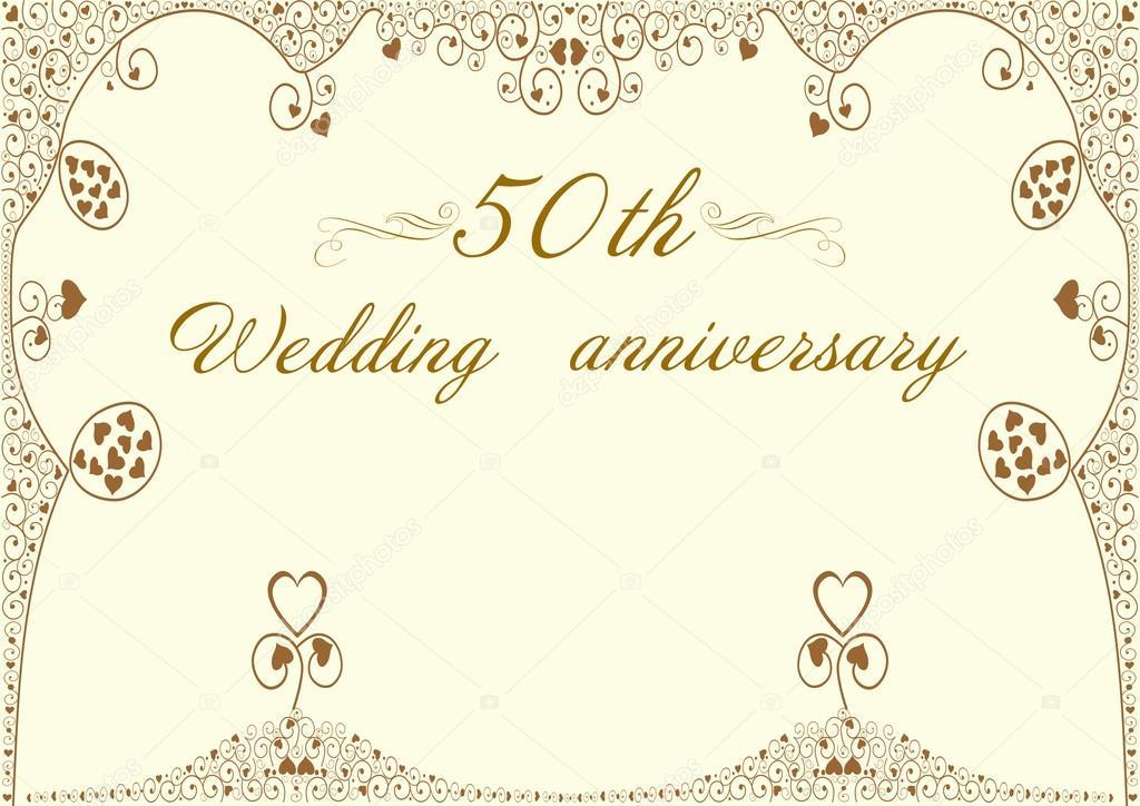 50th wedding anniversary invitation editable vector illustration 50th wedding anniversary invitation editable vector illustration stock vector stopboris Image collections
