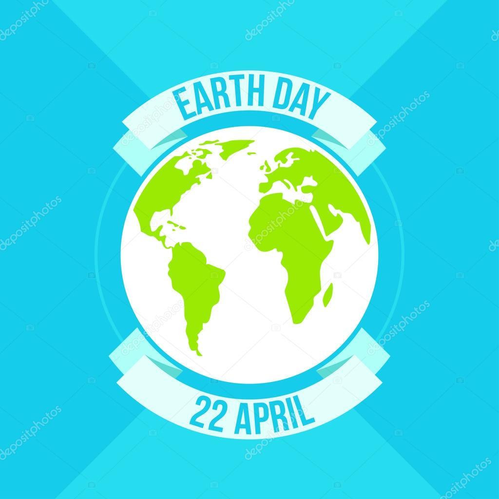 Tag der Erde in blau. Vektor-illustration — Stockvektor © art.leska ...