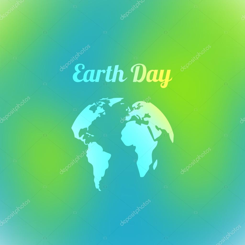 Tag der Erde in blauen und grünen Farben. Vektor-Illustration des e ...