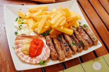 traditional slovenian food - meat kebab