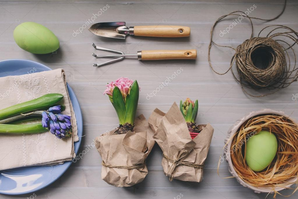 Easter and spring preparations.