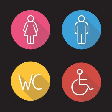 WC toilet entrance signs