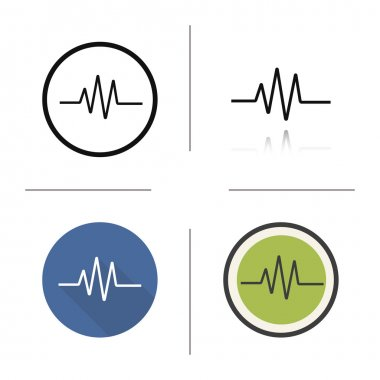 Cardiogram icons Flat design