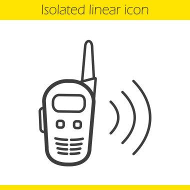 Radio set linear icon