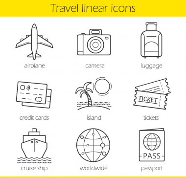 Travelling linear icons