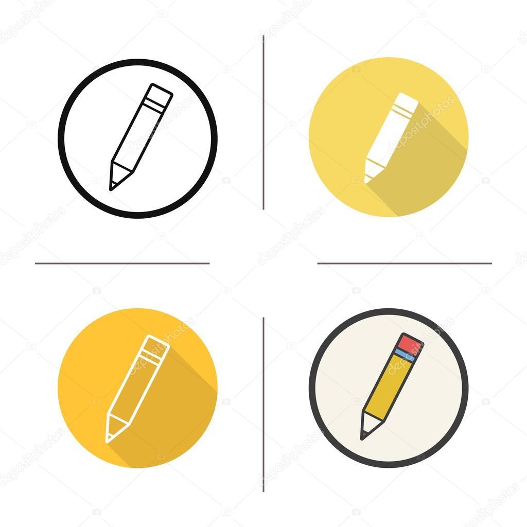 pencil icons flat design � vetor de stock 169 bsd 117785592