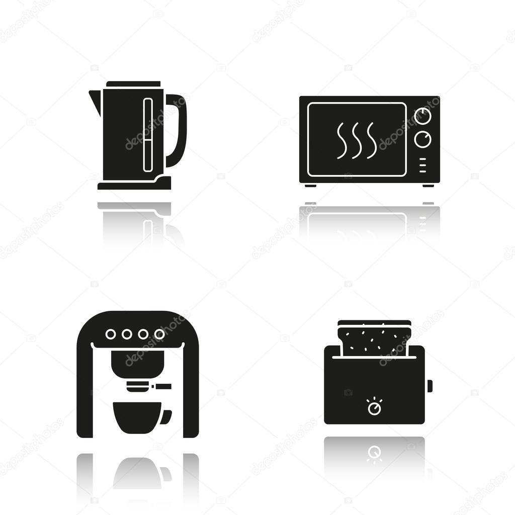 set van apparaten in de keuken