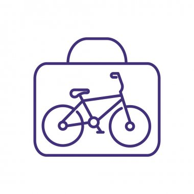 Taking bicycle on plane RGB color icon. Travelling with bike. Extra luggage. Large-sized sporting equipment. Special baggage allowance. Packing bike for shipping, flying. Isolated vector illustration icon