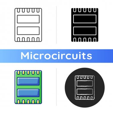 Computer port icon. Electronic interface between computer and other computers or peripheral devices. Linear black and RGB color styles. Isolated vector illustrations icon