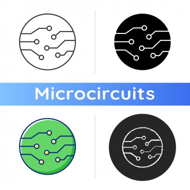 Circuit board connectors icon. Electronic connections to make connections between different components. Linear black and RGB color styles. Isolated vector illustrations icon