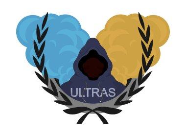 Laurel wreath, ultras, football fan logo