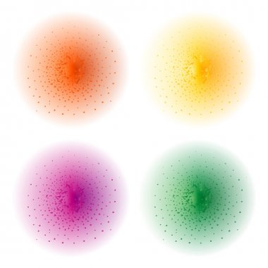 Color splashes spheres