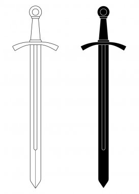 One-handed medieval knight sword