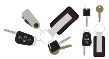 Set of realistic keys icons