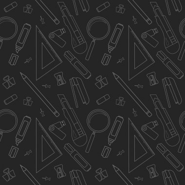 Stationery tools seamless line pattern
