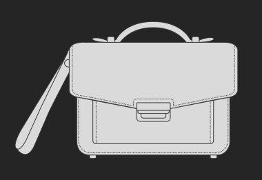 luxury leather hand bag