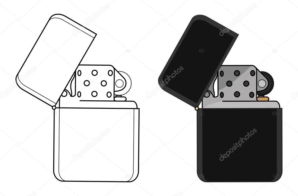 Black gasoline lighters