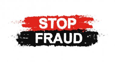 Stop fraud grunge sign