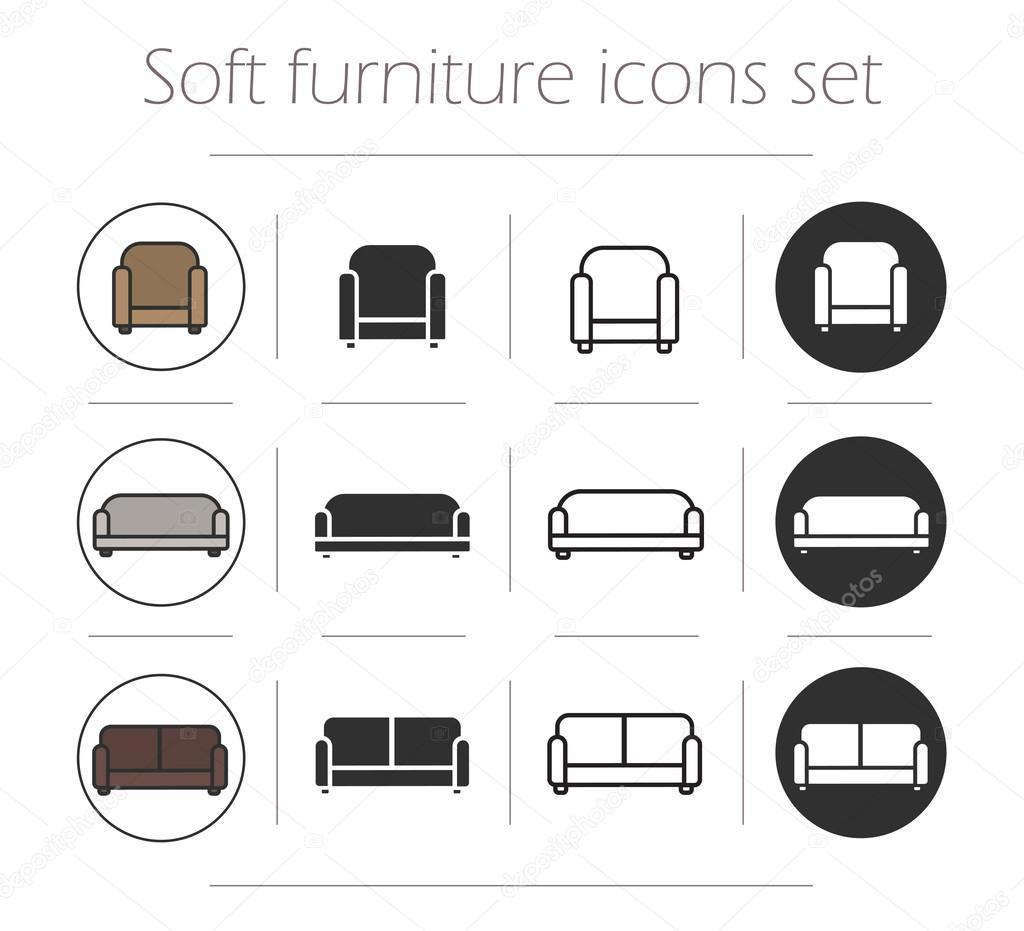 Set di icone di arredamento vettoriali stock bsd 86486516 for Arredamento gratis