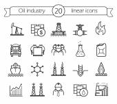 Photo Oil industry icons set
