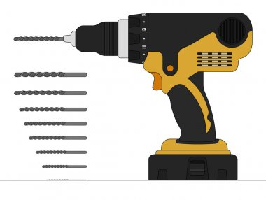 Electric drill and bits